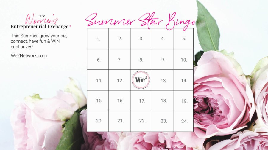 We2 SUMMER STAR BINGO IS HERE