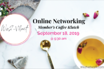Online Coffee Klatch September 18, 2019