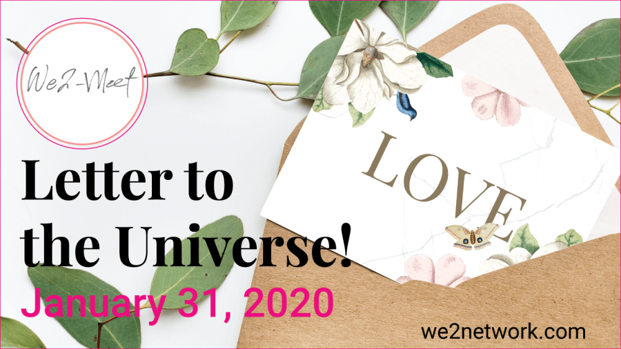 Letter to the Universe! with We2!